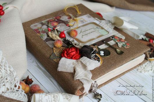 Подарочные наборы ручной работы. Ярмарка Мастеров - ручная работа. Купить Кулинарная книга. Handmade. Коричневый, кулинарная книга рецепты