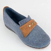 """Обувь ручной работы. Ярмарка Мастеров - ручная работа Лоферы ( туфли) женские из войлока """"Jeans dream"""". Handmade."""