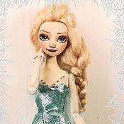 Мягкие игрушки ручной работы. Ярмарка Мастеров - ручная работа Авторская текстильная кукла. Эльза, Холодное сердце. Handmade.