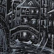 """Аксессуары ручной работы. Ярмарка Мастеров - ручная работа Галстук """"Ночная Венеция"""". Handmade."""