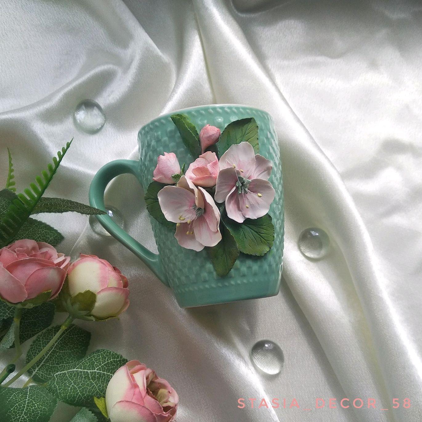 Кружка с цветами, Кружки, Пенза,  Фото №1