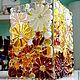 Вазы ручной работы. ваза из стекла, фьюзинг   Медовая. Лилия  Горбач-ФЬЮЗИНГ. Ярмарка Мастеров. Ваза для цветов, Медовый