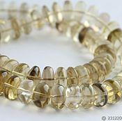 Beads1 handmade. Livemaster - original item Bio LEMON TOPAZ smooth rondelle-11-12mm. Handmade.