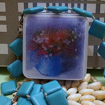 Косметика ручной работы. Ярмарка Мастеров - ручная работа Мыло с картинкой Весенний букет в горшке. Handmade.