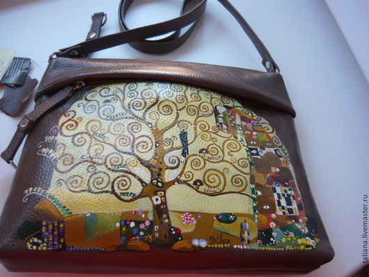 Женские сумки ручной работы. Ярмарка Мастеров - ручная работа. Купить Климт. Handmade. Коричневый, кожа натуральная