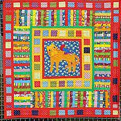 Для дома и интерьера ручной работы. Ярмарка Мастеров - ручная работа детское лоскутное одеяло с аппликациями  РЫЖИЙ КОТ. Handmade.