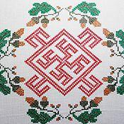Русский стиль handmade. Livemaster - original item Ferns and Acorns Oberezhnye embroidery. Handmade.