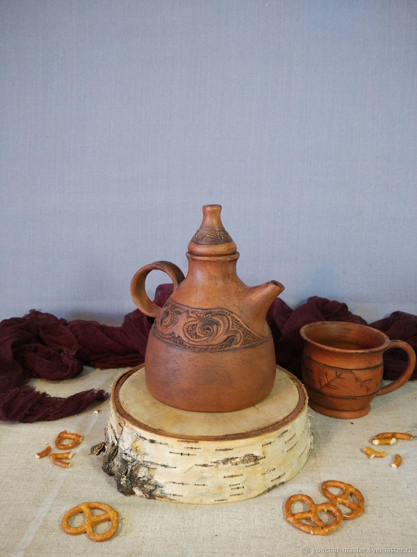 Глиняный чайник для заварки (заварник из глины), Чайники, Ставрополь, Фото №1