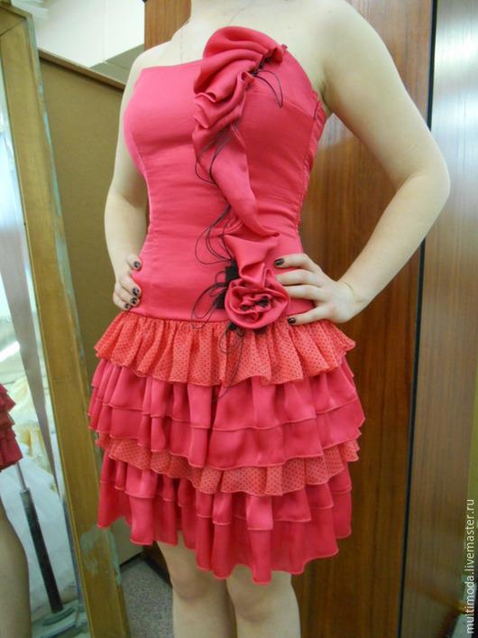 Платья ручной работы. Ярмарка Мастеров - ручная работа. Купить !Платье для выпускного вечера коралловое. Handmade. Коралловый, платье с цветами