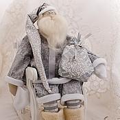 Подарки к праздникам ручной работы. Ярмарка Мастеров - ручная работа Тильда Санта Серебро. Handmade.
