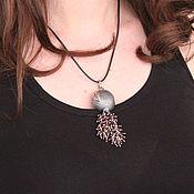 Украшения handmade. Livemaster - original item Garnet pendant in 925 sterling silver with hand-minted VA0014. Handmade.