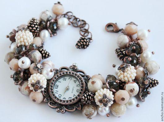 """Часы ручной работы. Ярмарка Мастеров - ручная работа. Купить Часы """"Бежевые"""". Handmade. Бежевый, часы браслет, женские часы"""