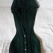 Одежда ручной работы. Ярмарка Мастеров - ручная работа жилетка с капюшоном. Handmade.