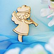 Материалы для творчества handmade. Livemaster - original item Miniature Fairy with a pipe, a blank for creativity, a magnet. Handmade.