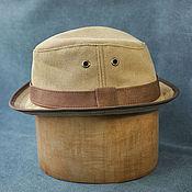 handmade. Livemaster - original item Summer beige cotton trilby hat TRL-06. Handmade.