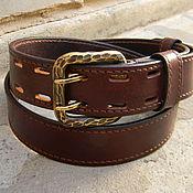 handmade. Livemaster - original item Strap, brutal men,leather,for jeans. Handmade.