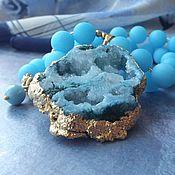 Украшения handmade. Livemaster - original item Necklace with pendant FIRYUZA. Handmade.