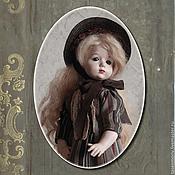 Куклы и игрушки ручной работы. Ярмарка Мастеров - ручная работа Кабинетная кукла в духе Прекрасной эпохи. Handmade.
