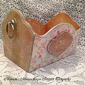 Для дома и интерьера ручной работы. Ярмарка Мастеров - ручная работа ящик -короб для рукоделия хранения Винтаж подарок хранение купаж. Handmade.