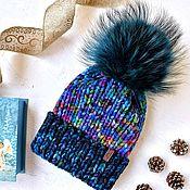 Шапки ручной работы. Ярмарка Мастеров - ручная работа Женская шапка ручной работы с отворотом. Handmade.