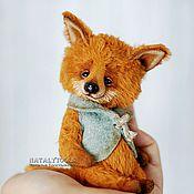 Куклы и игрушки ручной работы. Ярмарка Мастеров - ручная работа Лисенок с цыпленком.  fox pup тедди лис, коллекционная игрушка. Handmade.