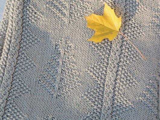 Текстиль, ковры ручной работы. Ярмарка Мастеров - ручная работа. Купить Плед цвета льна. Handmade. Бежевый, плед спицами