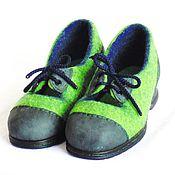 """Обувь ручной работы. Ярмарка Мастеров - ручная работа Шерстяные туфли для """"зелёной гусеницы"""", 36 российский размер в наличии. Handmade."""