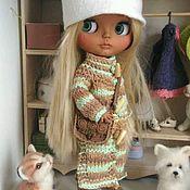 Куклы и игрушки ручной работы. Ярмарка Мастеров - ручная работа Вязаное пальто для блайз. Handmade.