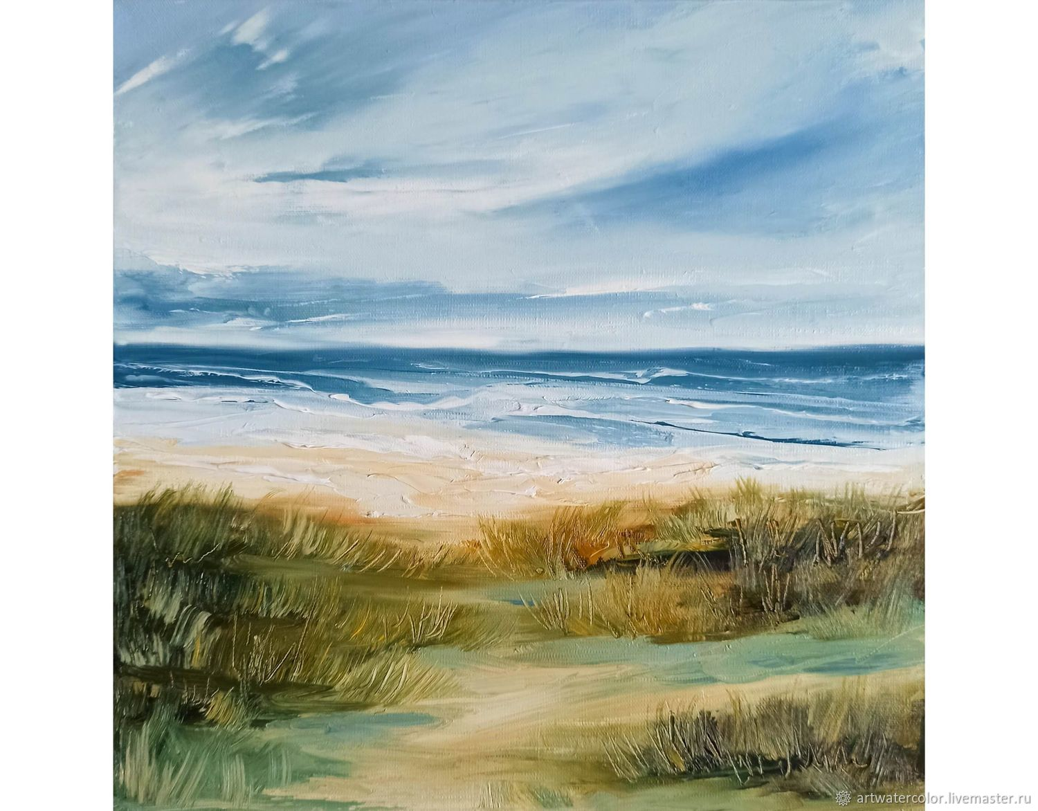 Oil painting Sea By the sea Seascape, Pictures, Moscow,  Фото №1