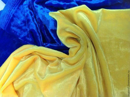 Шитье ручной работы. Ярмарка Мастеров - ручная работа. Купить Бархат плюшевый яркий-яркий неоновый мягкий в разных цветах. Handmade.