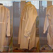 Одежда ручной работы. Ярмарка Мастеров - ручная работа Ночная мужская рубаха и колпак. Handmade.