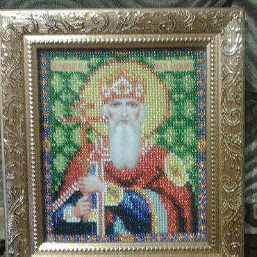 Картины и панно ручной работы. Ярмарка Мастеров - ручная работа Вышитая икона бисером. Handmade.