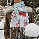 """Береты ручной работы. Ярмарка Мастеров - ручная работа. Купить Берет """" Снегири"""". Handmade. Белый, берет, зимняя шапка"""