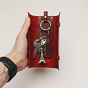 Сумки и аксессуары handmade. Livemaster - original item Marble genuine leather key holder. Handmade.