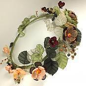 Украшения handmade. Livemaster - original item Dreams Of Wild Flowers. wreath. handmade flowers from fabric.. Handmade.
