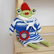 """Куклы и игрушки ручной работы. Ярмарка Мастеров - ручная работа Игрушка """"Лягушка"""". Handmade."""