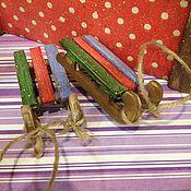 Подарки к праздникам ручной работы. Ярмарка Мастеров - ручная работа Саночки новогодние. Handmade.