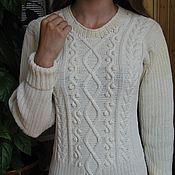 Одежда handmade. Livemaster - original item Women`s knit jumper (pullover) with knobs. Handmade.