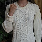 Одежда ручной работы. Ярмарка Мастеров - ручная работа Джемпер  женский вязаный  (пуловер) с шишечками. Handmade.