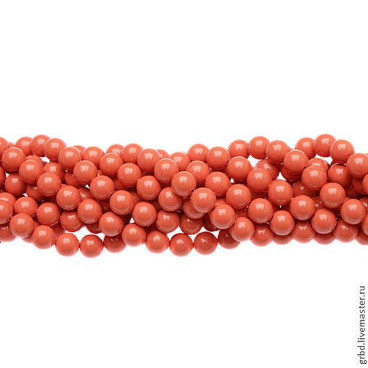 Для украшений ручной работы. Ярмарка Мастеров - ручная работа. Купить Жемчуг Сваровски 6 мм 5810 Coral (6-816). Handmade.