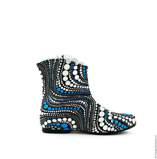 Обувь ручной работы. Ярмарка Мастеров - ручная работа. Купить Летние полусапоги 3-250 (ВЧ). Handmade. сделано с любовью
