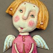 """Куклы и игрушки ручной работы. Ярмарка Мастеров - ручная работа текстильная грунтованная кукла """"Ангел №1"""". Handmade."""