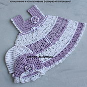 Работы для детей, handmade. Livemaster - original item sundress for girls and the Scent of lilac dress. Handmade.