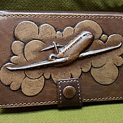 "Сумки и аксессуары handmade. Livemaster - original item Leather driver license cover ""AIRPLANE"". Handmade."