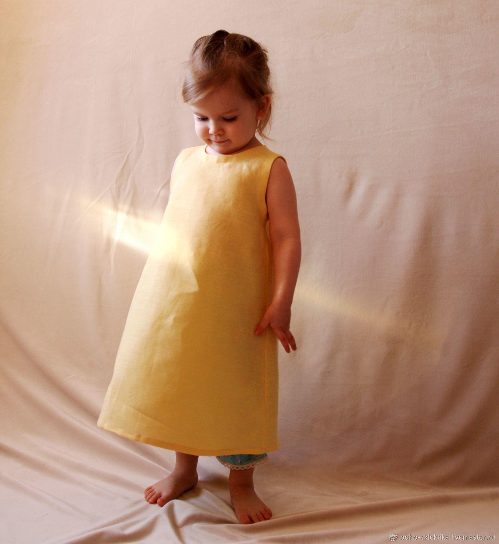 'Sunny Bunny ' Linen dress, yellow simple summer, Dresses, Tomsk,  Фото №1