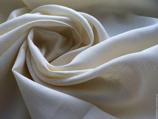 """Шитье ручной работы. Ярмарка Мастеров - ручная работа. Купить Лен 100% сорочечный """" Айвори"""". Handmade. Белый"""