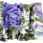 Аксессуары handmade. Livemaster - original item Batik Tippet felted Romantic. Handmade.