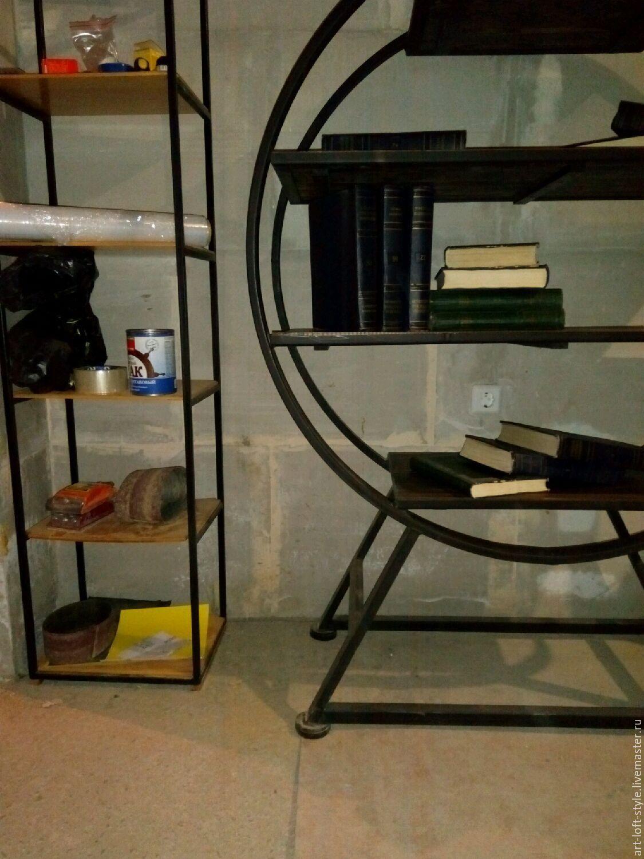 Купить и заказать этажерку в стиле лофт. Оригинальная этажерка лофт авторской работы. Стильные вещи, для настоящих ценителей.