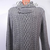Одежда handmade. Livemaster - original item Men`s knitted sweater with collar. Handmade.
