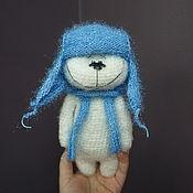 """Мягкие игрушки ручной работы. Ярмарка Мастеров - ручная работа Мишка """"УМКА"""" в голубой ушанке. Handmade."""